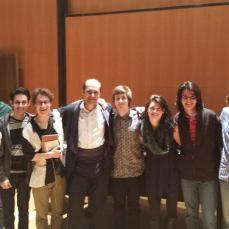A group of FSU guitarists with guest artist Rovshan Mamedkuliev after an incredible concert
