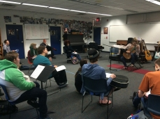 Veronica Playing for the guitar class at SAIL high school