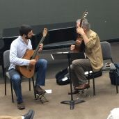Alvaro Pierri demonstrating a fingering during a masterclass at FSU