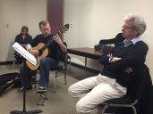 Thomas Kirchhoff listening to an FSU student during a masterclass