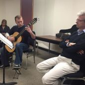 Thomas Kirchhoff listening to an FSU student during a masterclass